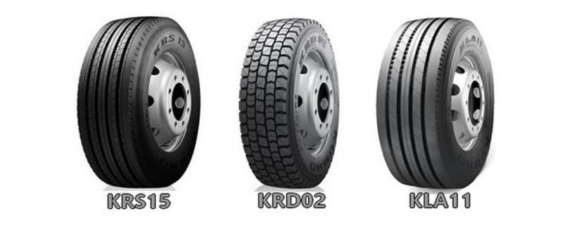 Bertrand Pneus distribue Les pneus Kumho Tires pour poids lourds